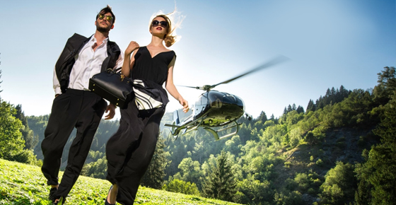Helicopter Flight & Candlelight Beach Dinner - Romantic Evening